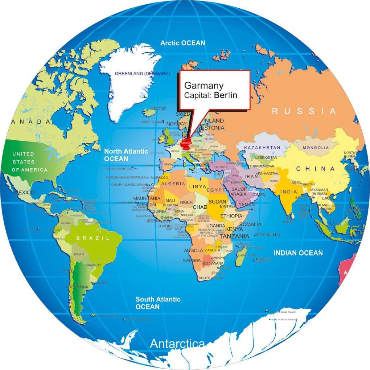 Berliini Maailman Kartta Berliini Saksa Maailman Kartta Saksa