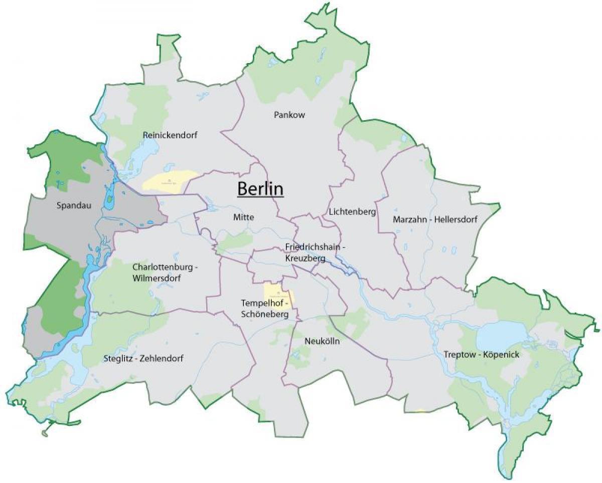 Spandau Berliinin Kartta Kartta Spandau Berliini Saksa